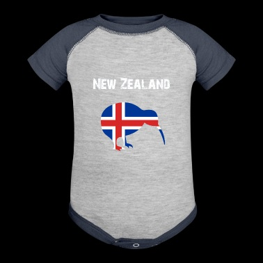 Nation-Design New Zealand Kiwi 5BYK3 - Baby Contrast One Piece