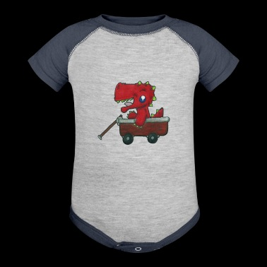 Dragon in a Wagon - Baby Contrast One Piece