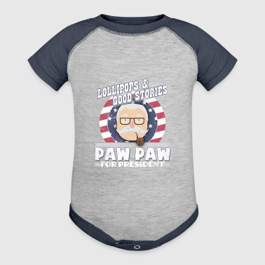 Paw Paw For President Paw Paw Gifts - Baby Contrast One Piece