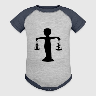 rechtsanwalt anwalt lawyer judge richter law justi - Baby Contrast One Piece