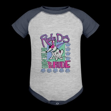 rude dog - Baby Contrast One Piece