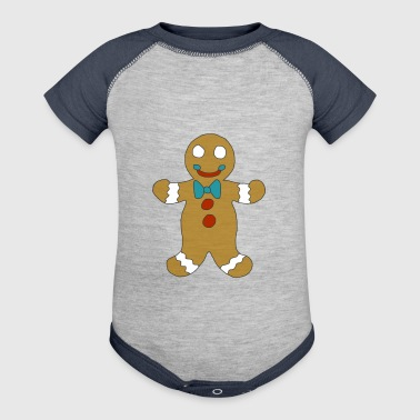 Gingerbread Man - Baby Contrast One Piece