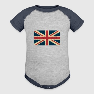 Grungy British Flag - Baby Contrast One Piece