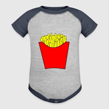 french fries pommes frites fastfood fast food16 - Baby Contrast One Piece