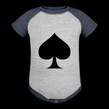 Suit of Spades Spade Pik Peak Mountaintop Cardgame - Baby Contrast One Piece