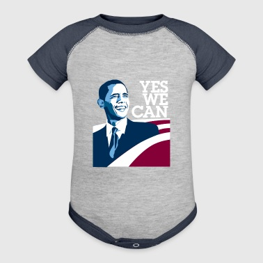 yes we can obama - Baby Contrast One Piece