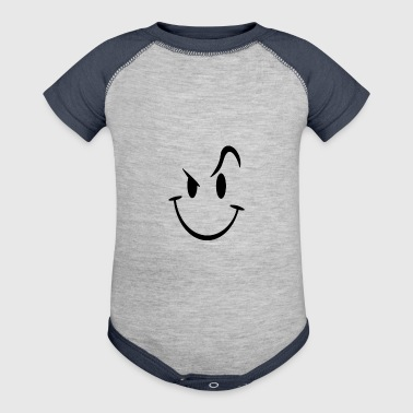 Evil Acid House Smiley - Baby Contrast One Piece