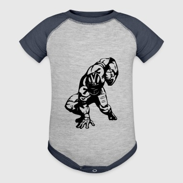 Professional Football Player Athletic Sportsman - Baby Contrast One Piece