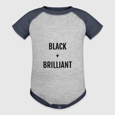 Black + Brilliant - Baby Contrast One Piece