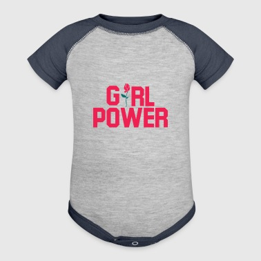 Girl Power. Girl Power gifts.Best Seller. Girls. - Baby Contrast One Piece