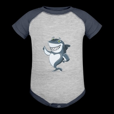 amusing shark - Baby Contrast One Piece