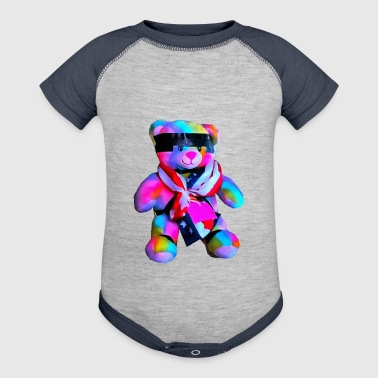 Rainbow Bondage Bear - Baby Contrast One Piece
