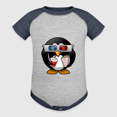 cinema penguin - Baby Contrast One Piece