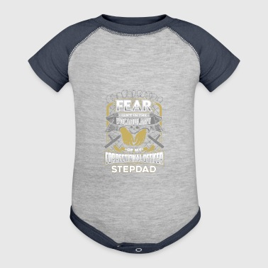 Correctional Officer Stepdad - Baby Contrast One Piece