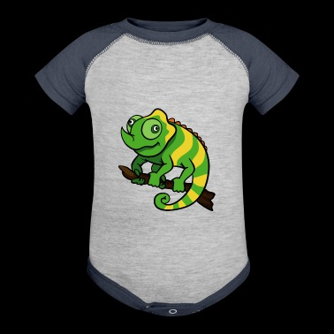 Chameleon Reptile - Baby Contrast One Piece