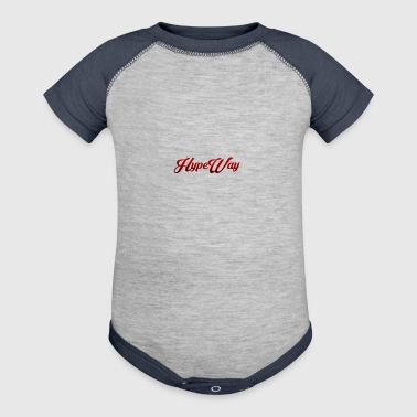 HypeWay Red Cursive - Baby Contrast One Piece