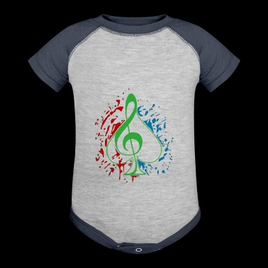 Treble clef - Baby Contrast One Piece