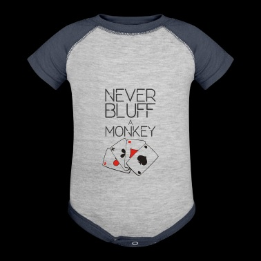 NEVER BLUFF A MONKEY - Baby Contrast One Piece