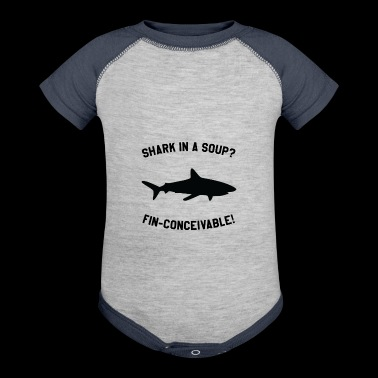 Shark In A Soup? FIN-CONCEIVABLE! - Baby Contrast One Piece