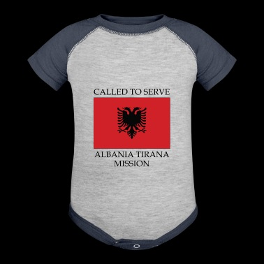 Albania Tirana LDS Mission Called to Serve Flag - Baby Contrast One Piece