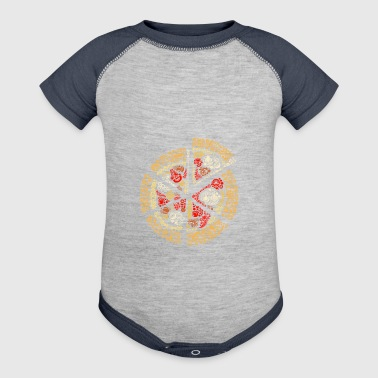 Pizza Salami Peperoni Pizza Salami and Fast food - Baby Contrast One Piece