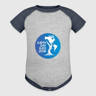 Earth Day Tree with North and South America - Baby Contrast One Piece