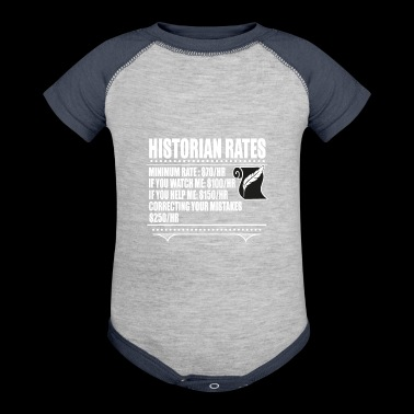 Minimum Rates T Shirt, Historian Rates T Shirt - Baby Contrast One Piece