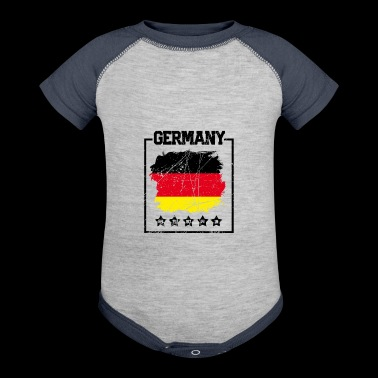 German Soccer Fan Shirt - Baby Contrast One Piece