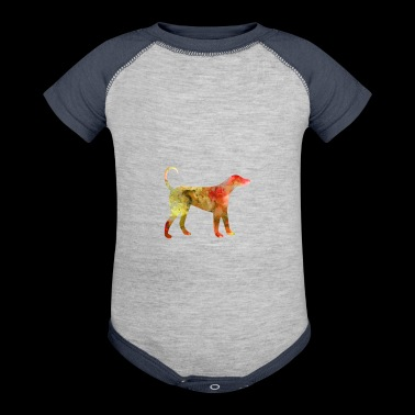 Dog Funny Animals Tee watercolor T Shirt Kids Gift - Baby Contrast One Piece