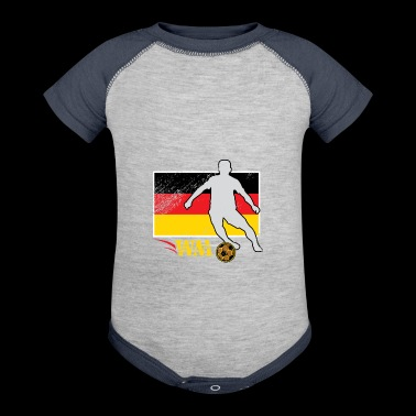 Soccer German Fan Present - Baby Contrast One Piece