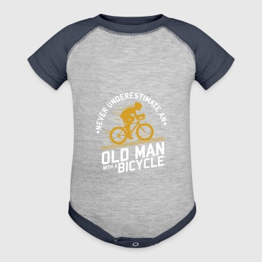 old man with a bicycle - Baby Contrast One Piece