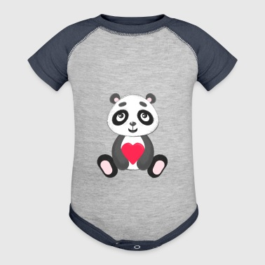 Sweetheart Panda - Baby Contrast One Piece