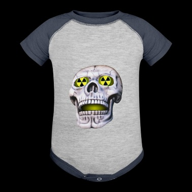 skull nuclear - Baby Contrast One Piece