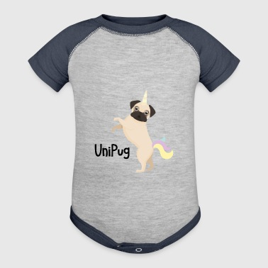 Uni Pug Funny Unicorn Dog - Baby Contrast One Piece