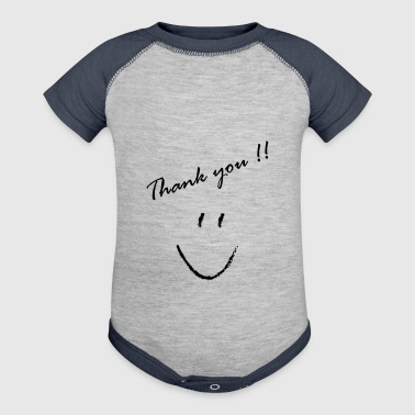 Thank You - Baby Contrast One Piece