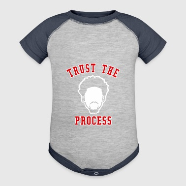 TRUST THE PROCESS TYPO - Baby Contrast One Piece
