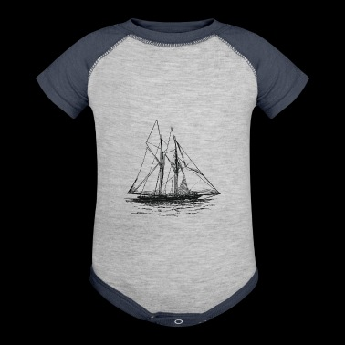Engraved Yacht - Baby Contrast One Piece