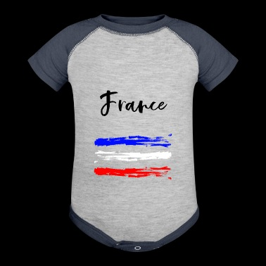 France - Fanshirt - Baby Contrast One Piece