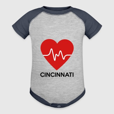 Heart Cincinnati - Baby Contrast One Piece
