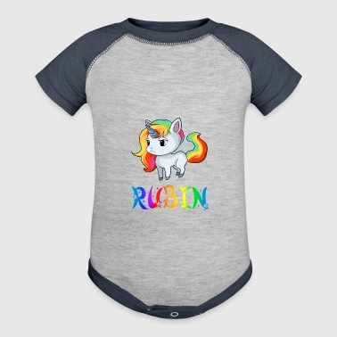 Rubin Unicorn - Baby Contrast One Piece