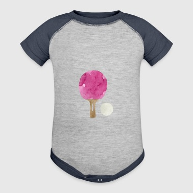 watercolor ping-pong racket - Baby Contrast One Piece