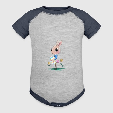 Sketched Easter Bunny, Cute Bunny Easter Bunny - Baby Contrast One Piece
