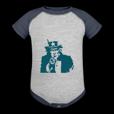 Uncle sam - Baby Contrast One Piece