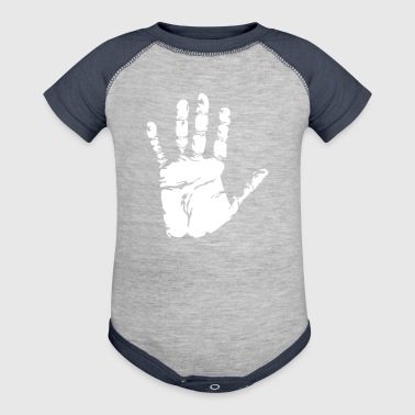 Black Handprint - Baby Contrast One Piece