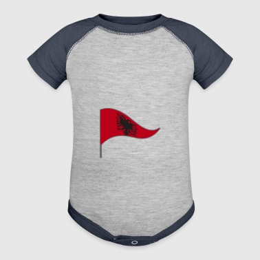 Albania Tirana Flag Banner Flags Ensigns - Baby Contrast One Piece
