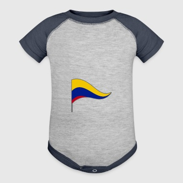 Colombia South America Meran Flags Banner Ensigns - Baby Contrast One Piece