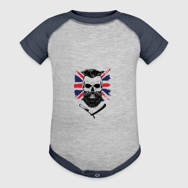 royal beard union jack - Baby Contrast One Piece