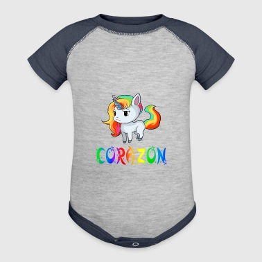 Corazon Unicorn - Baby Contrast One Piece