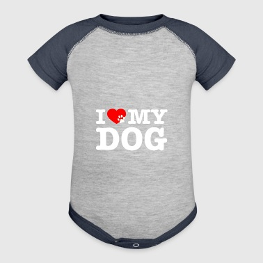 I LOVE MY DOG - Baby Contrast One Piece