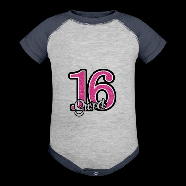 Sweet 16 16th Birthday Gift Present Highschool - Baby Contrast One Piece